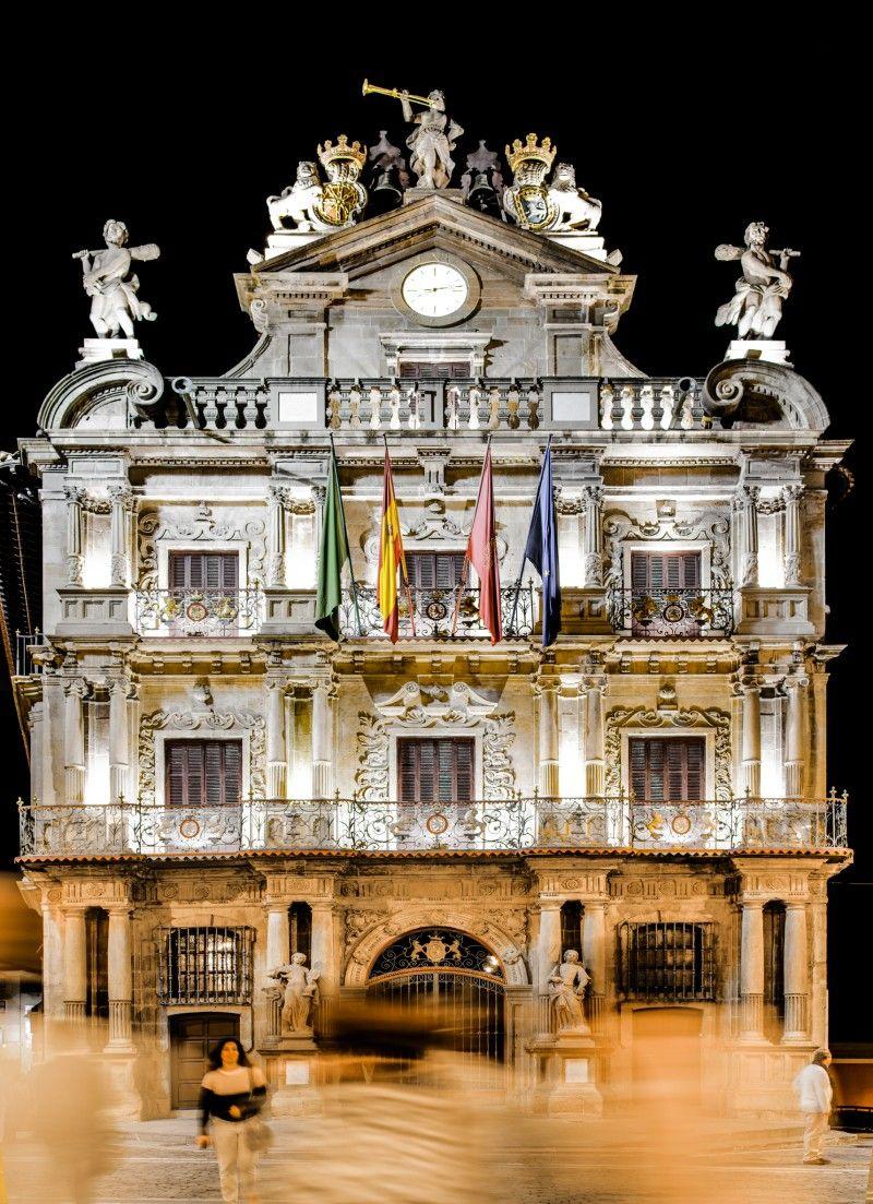 Casa Consistorial en la ciudad de #Pamplona #Navarra