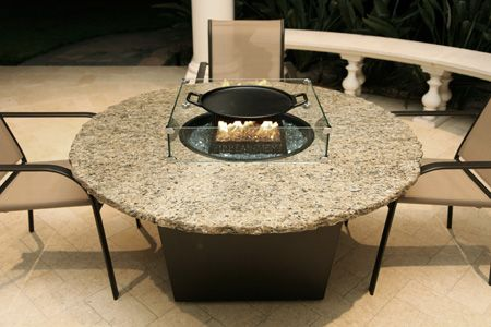Firetainment Naples Round Fire Table Hibachi Cooking At Home - Naples fire pit table