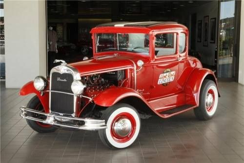1930 Red 'Hot Rod Lincoln' (Custom 2 Door Coupe) built by Charlie Ryan…Charlie wrote and sang the song 'Hot Rod Lincoln' as well, released in 1957