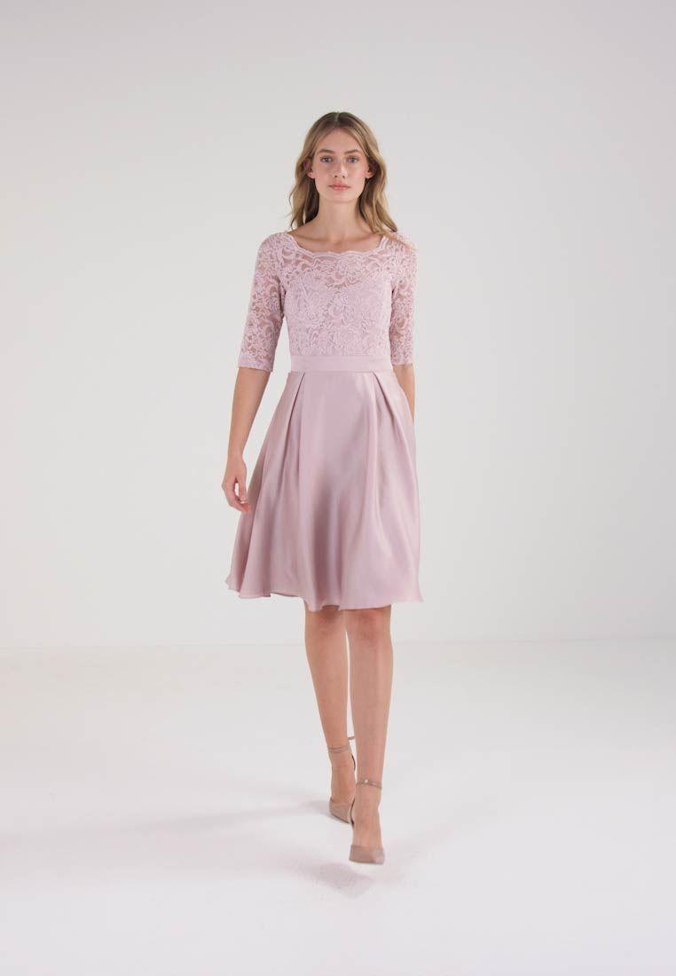 Zalando vestido coctel rosa