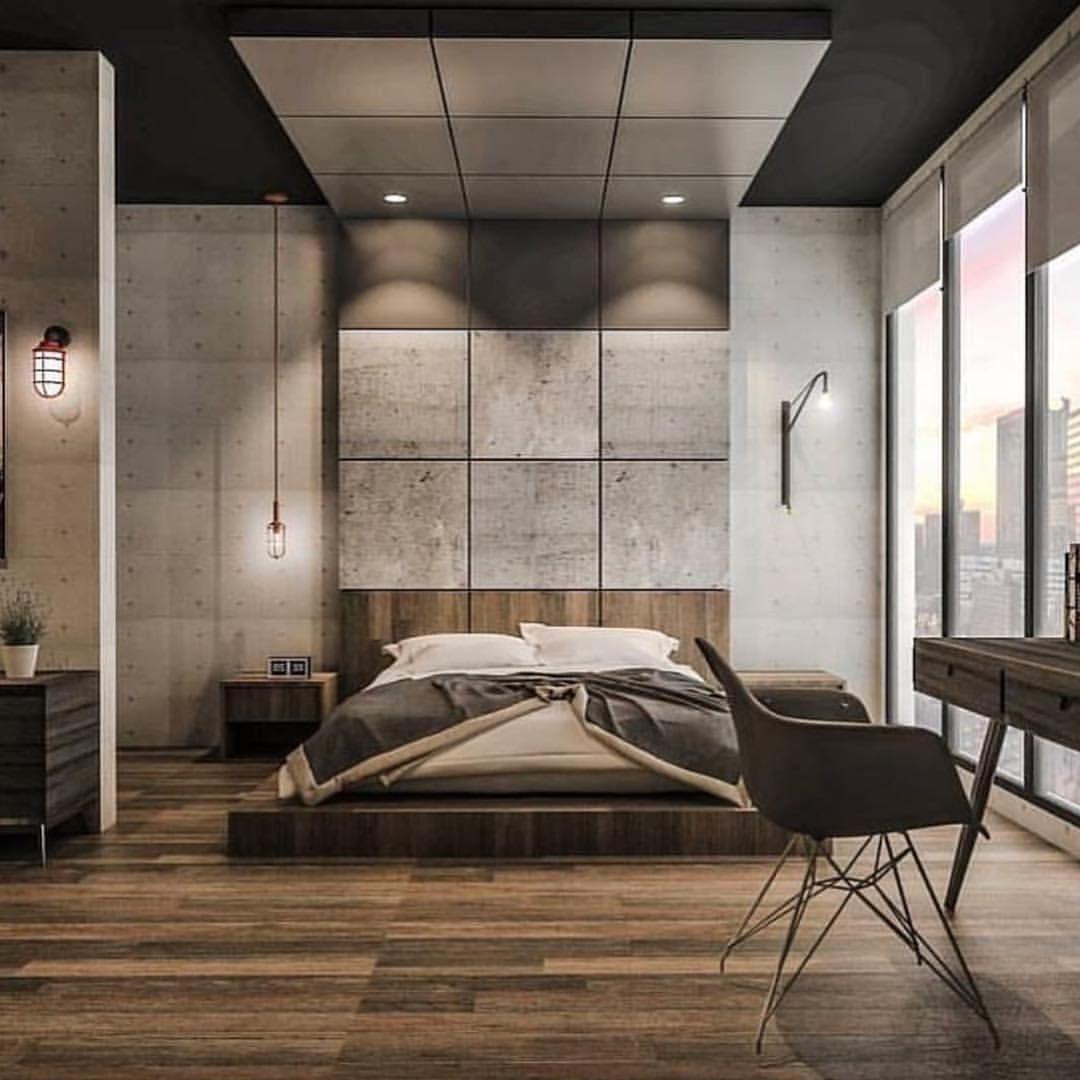 Pin Bahar Etessami Bedroom Industrial