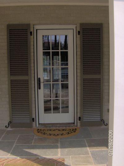 Front Doors With Shutters Exterior On French Door