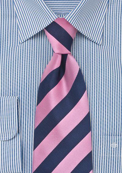 sono diversamente vasta selezione di stile di moda Cravatta rosa righe blu | Cravatte a righe, Cravatte rosa e ...
