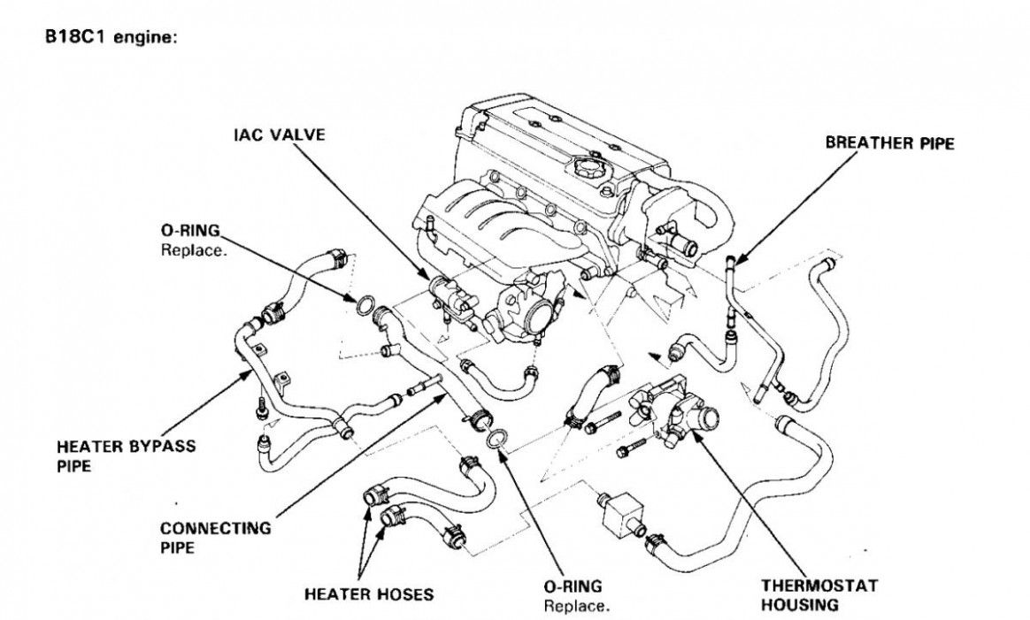 Acura Engine Bay Parts Diagram