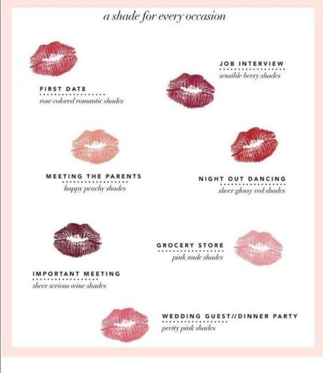 Perfect lipstick shade for every occasion!