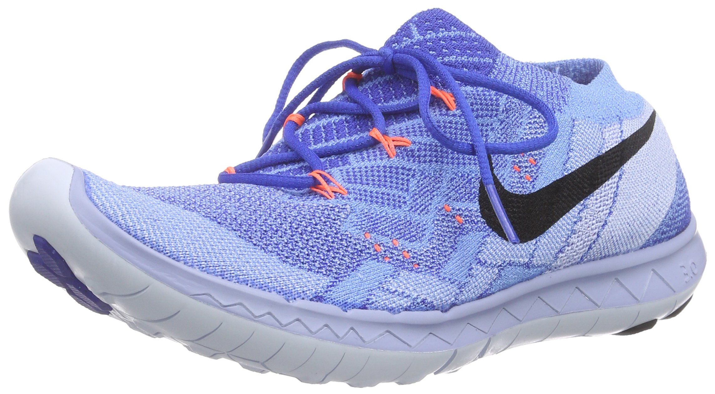 reputable site 67630 3a805 Women s Nike Free 3.0 Flyknit Racer Running Shoes (7.5, Racer Blue Black-