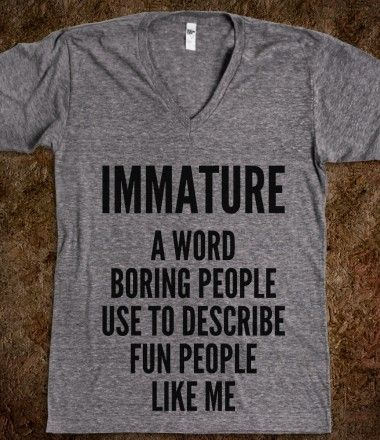 immature t shirt | ... PEOPLE USE TO DESCRIBE FUN PEOPLE LIKE ME V-NECK T-SHIRT (IDB802043