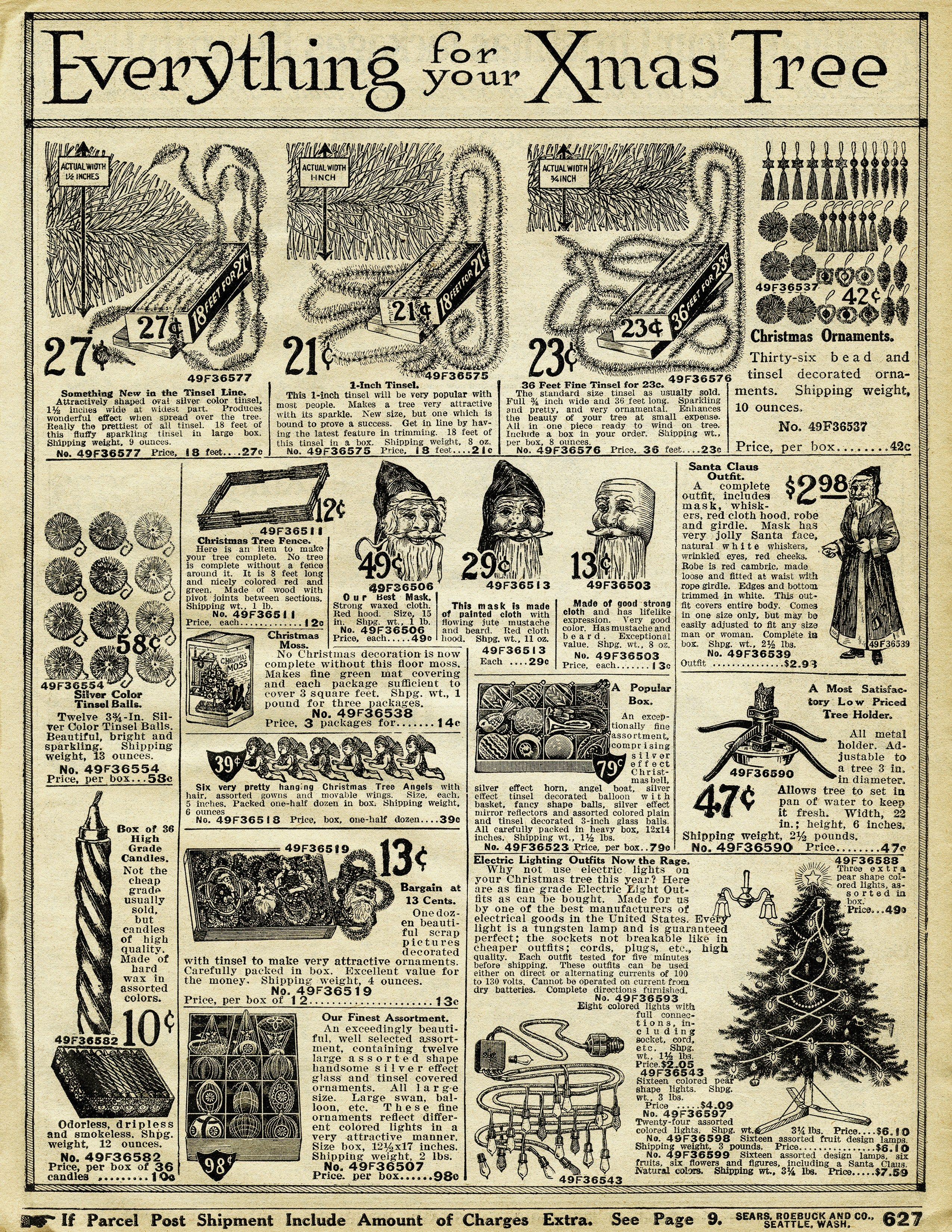 vintage christmas printable, old catalogue page, antique holiday ...
