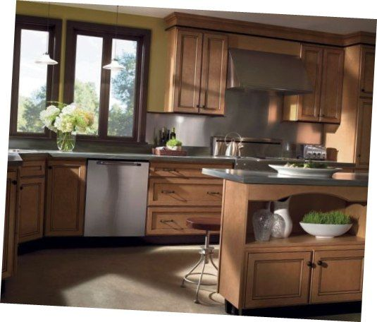 Smooth Kitchen Cabinets Colors Painting Calm Light Brown ...