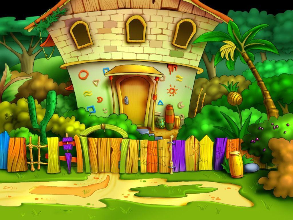 Gambar Kartun Rumah Rumah Pinterest