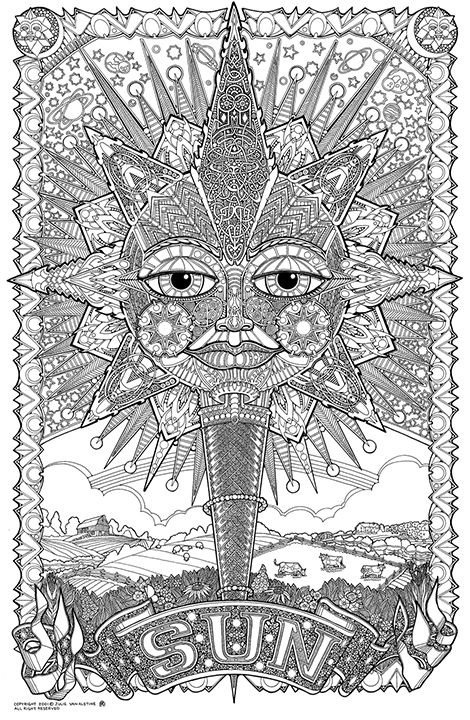 psychedelic coloring pages - Pesquisa do Google | Mandala ...