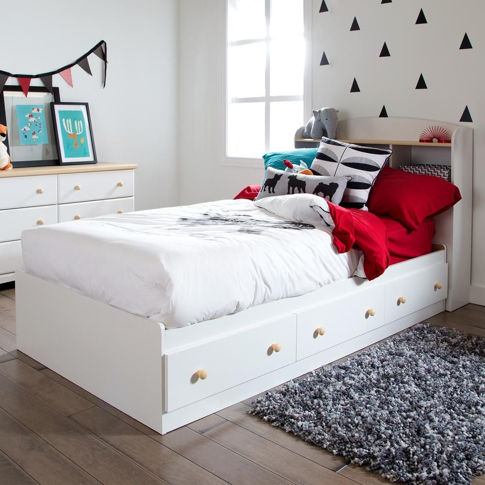 South Shore Summertime 3Drawer TwinSize Storage Bed in