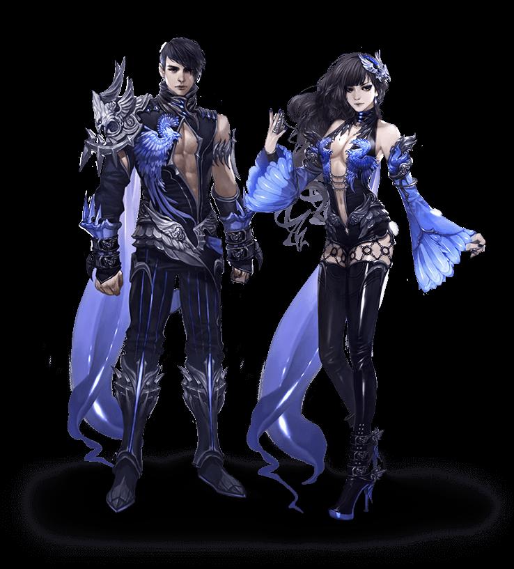 Indigo Phoenix Armor Set