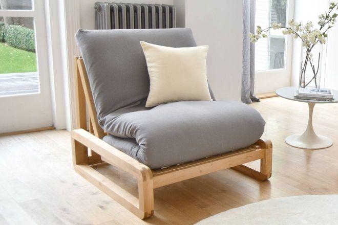 Loop Single Seat Size Birch Sofa Bed Futon Company Single Sofa Bed Single Sofa Single Seater Sofa