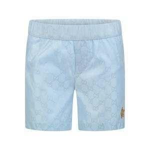 a5280ae4ff GUCCI Baby Boys Blue GG Swim Shorts | Baby boys | Gucci baby, Swim ...