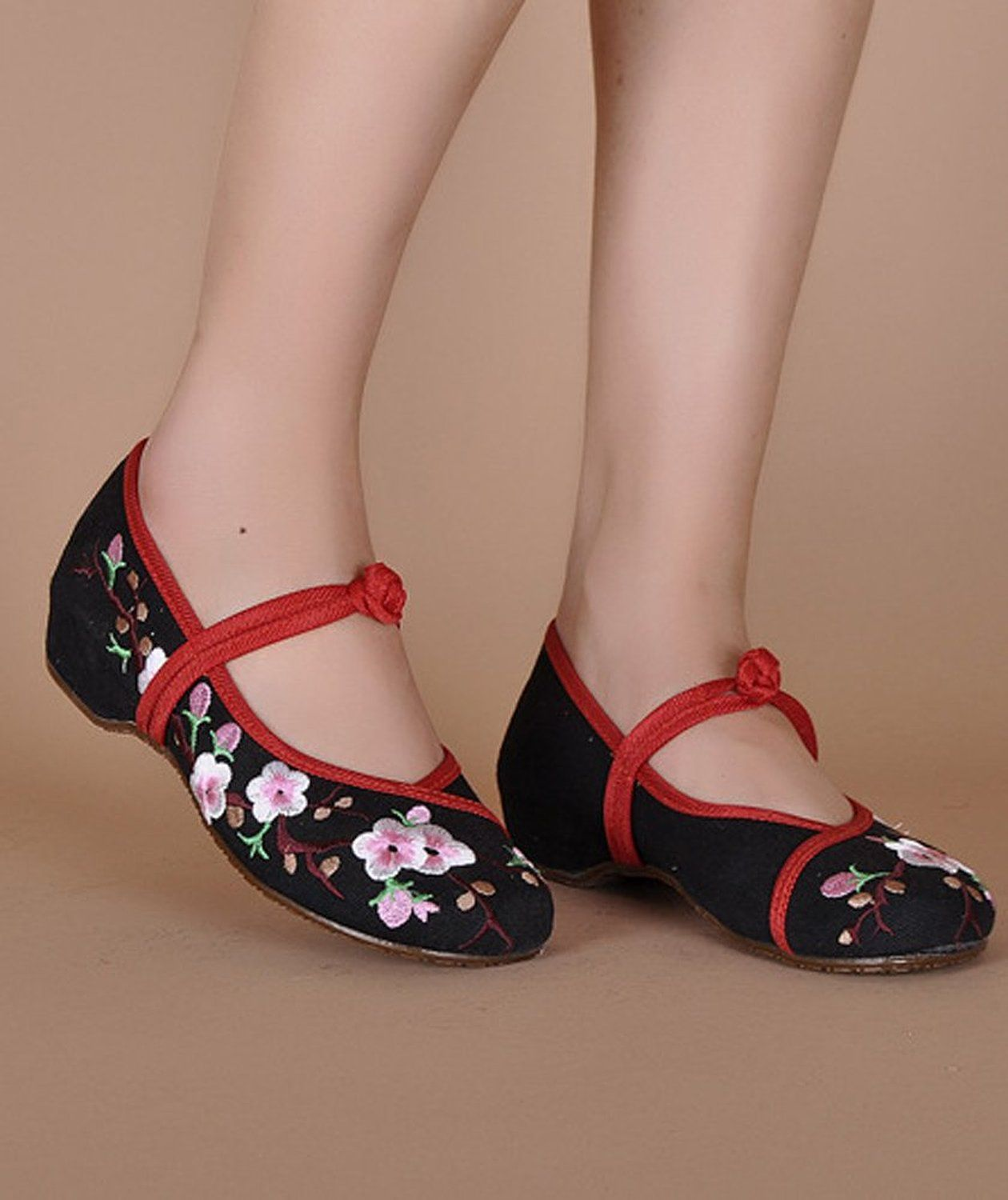 top brands hot products 100% authentic Amazon.com: AvaCostume Embroidery Womens Classics Flats Rubber ...