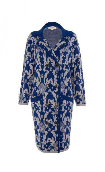Love this: TEMPERLEY LONDON Blue Josefa Jacquard Coat @Lyst