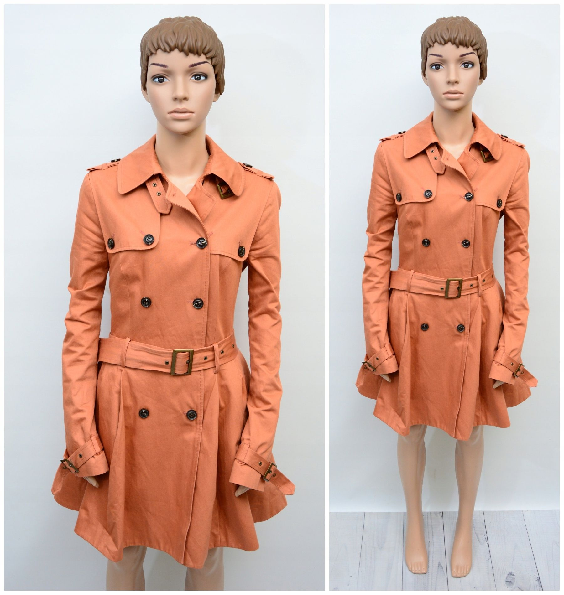 Topshop Plaszcz Trench Lososiowy Unikat 38 7794486629 Oficjalne Archiwum Allegro Coat Trench Coat Fashion