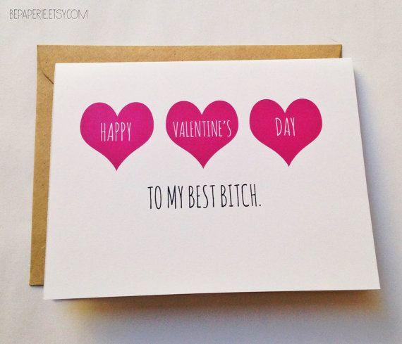 20 cute and funny etsy valentines day cards for your best friend - Cute Valentines Day Sayings For Friends
