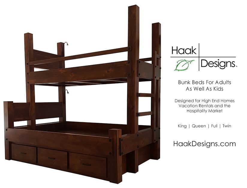 finest selection 54aef 27e16 We build high end custom bunk beds for use by adults as well ...
