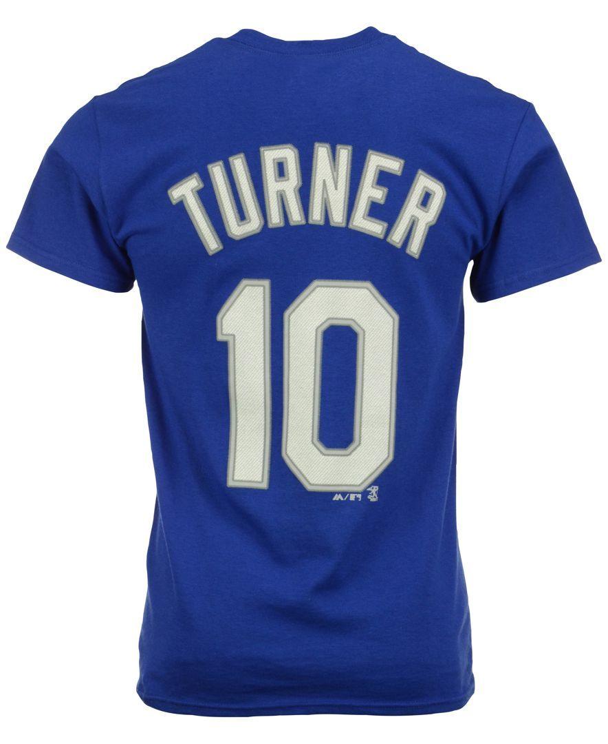 hot sale online effc1 a1135 Majestic Men's Justin Turner Los Angeles Dodgers Player T ...