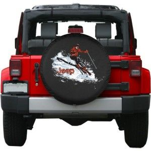 Premium Jeep Skiing Tire Cover Jeep Wrangler Tire Covers Jeep