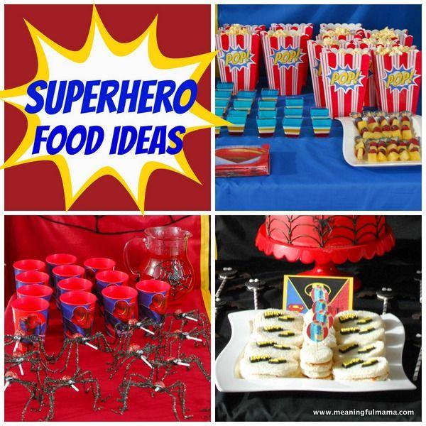 Superhero Party Food Ideas Superhero party food Superhero party