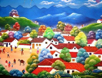 I Love Traditional Colombian Landscapes Like This Folk Art Painting Art Artist