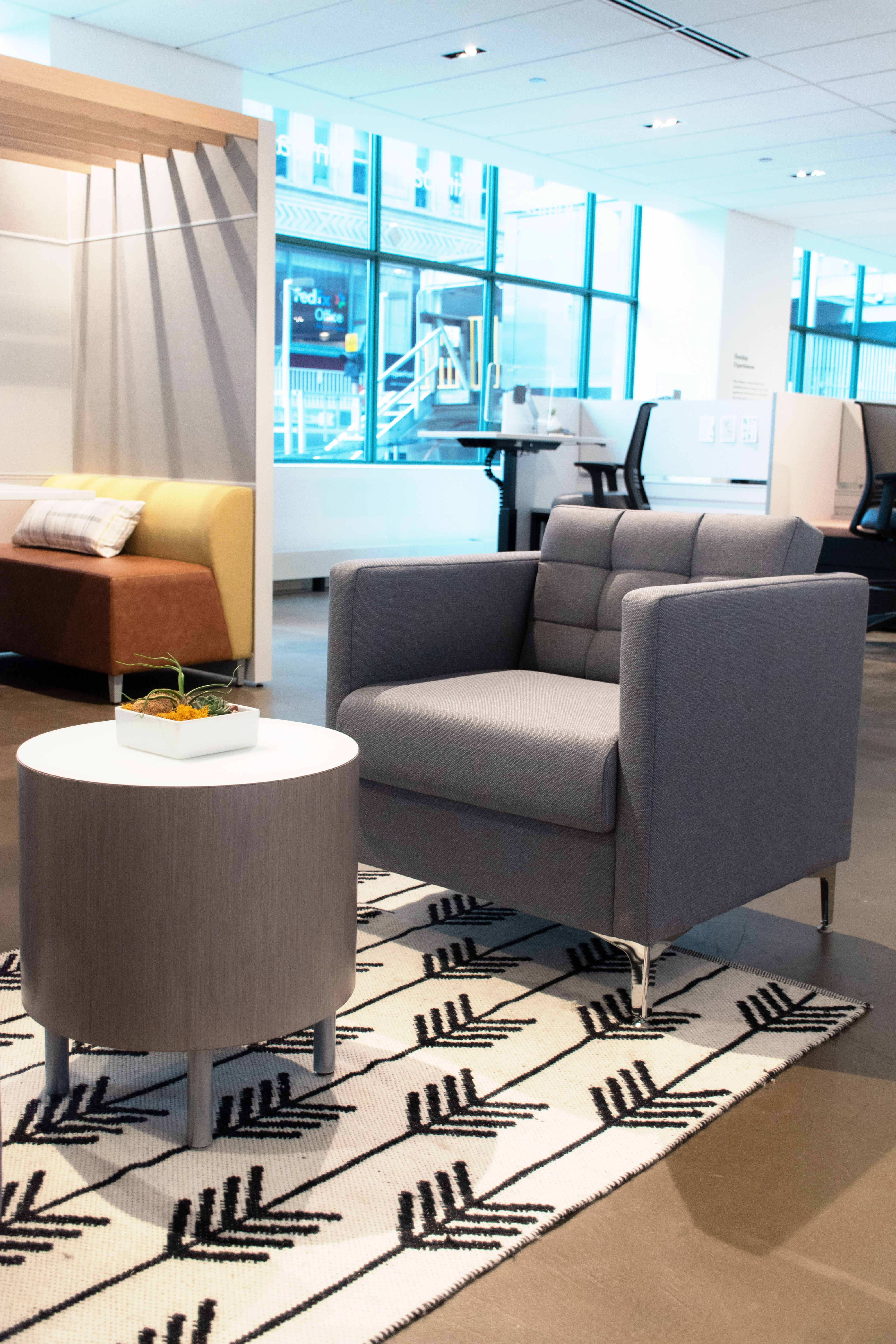 Kimball Furniture Chicago Showroom Boyd Chair And Villa Table