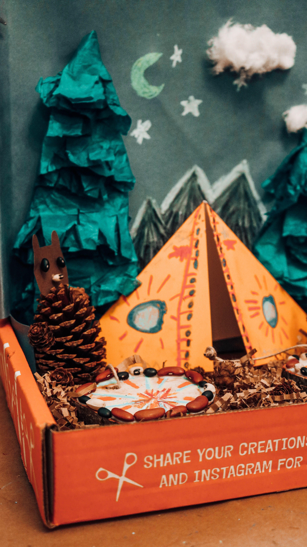 Art box for kids we craft box camping bears activity