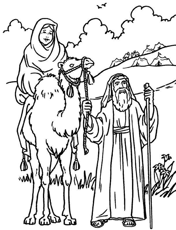 Pinto Dibujos: Abraham y Sara para colorear | A.T | Pinterest