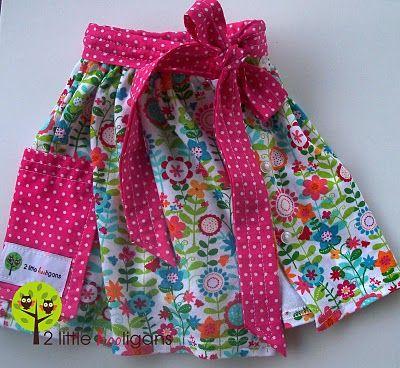 Newborn dress turned toddler apron (refashioning