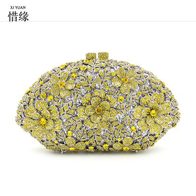 XIYUAN BRAND jeweled clutch Wedding Bridal purse Luxury Diamond Evening Bags  Lady Day clutch wallets Women 9beb90b47cce