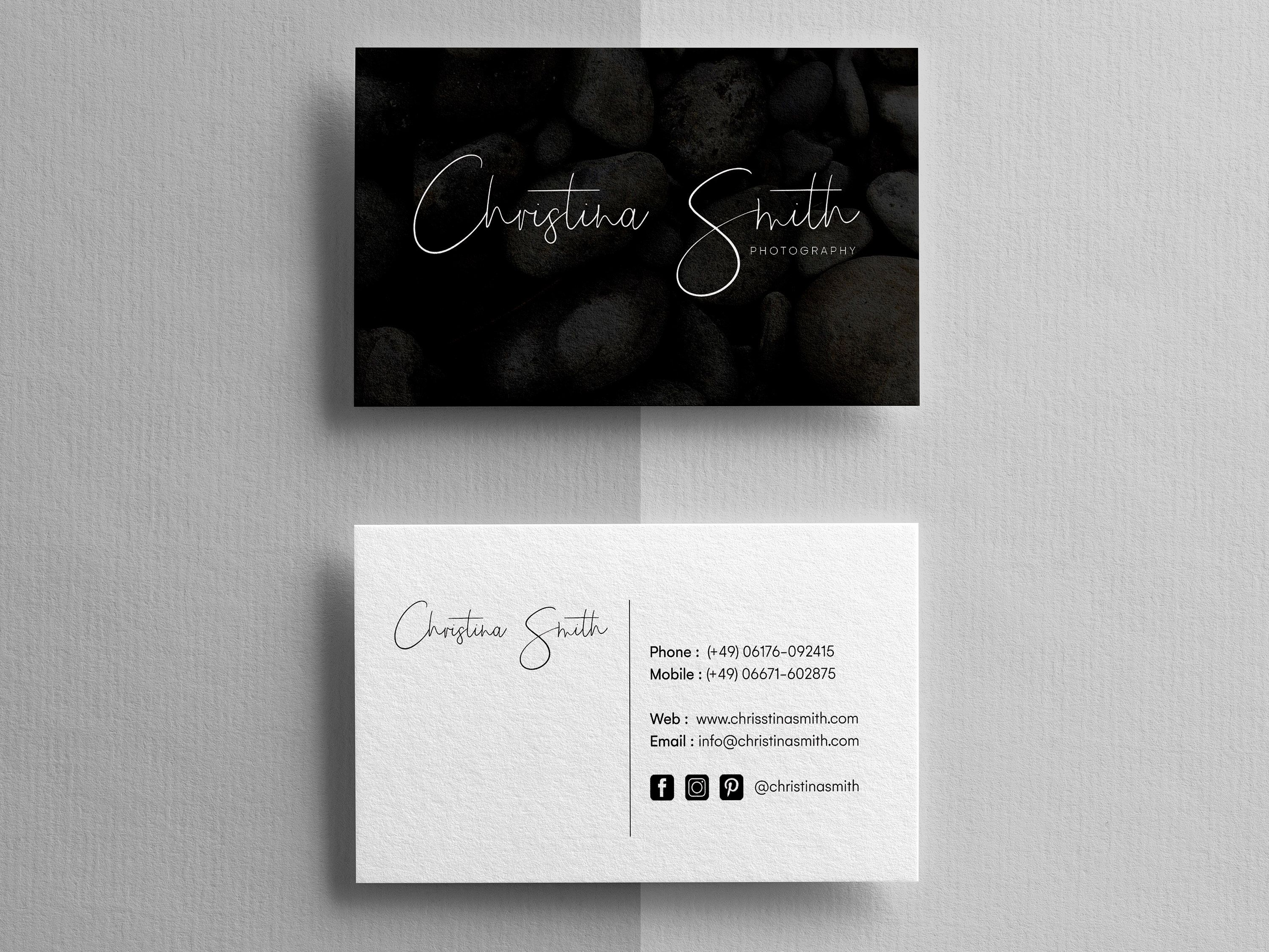 Photographer Business Card Template from i.pinimg.com