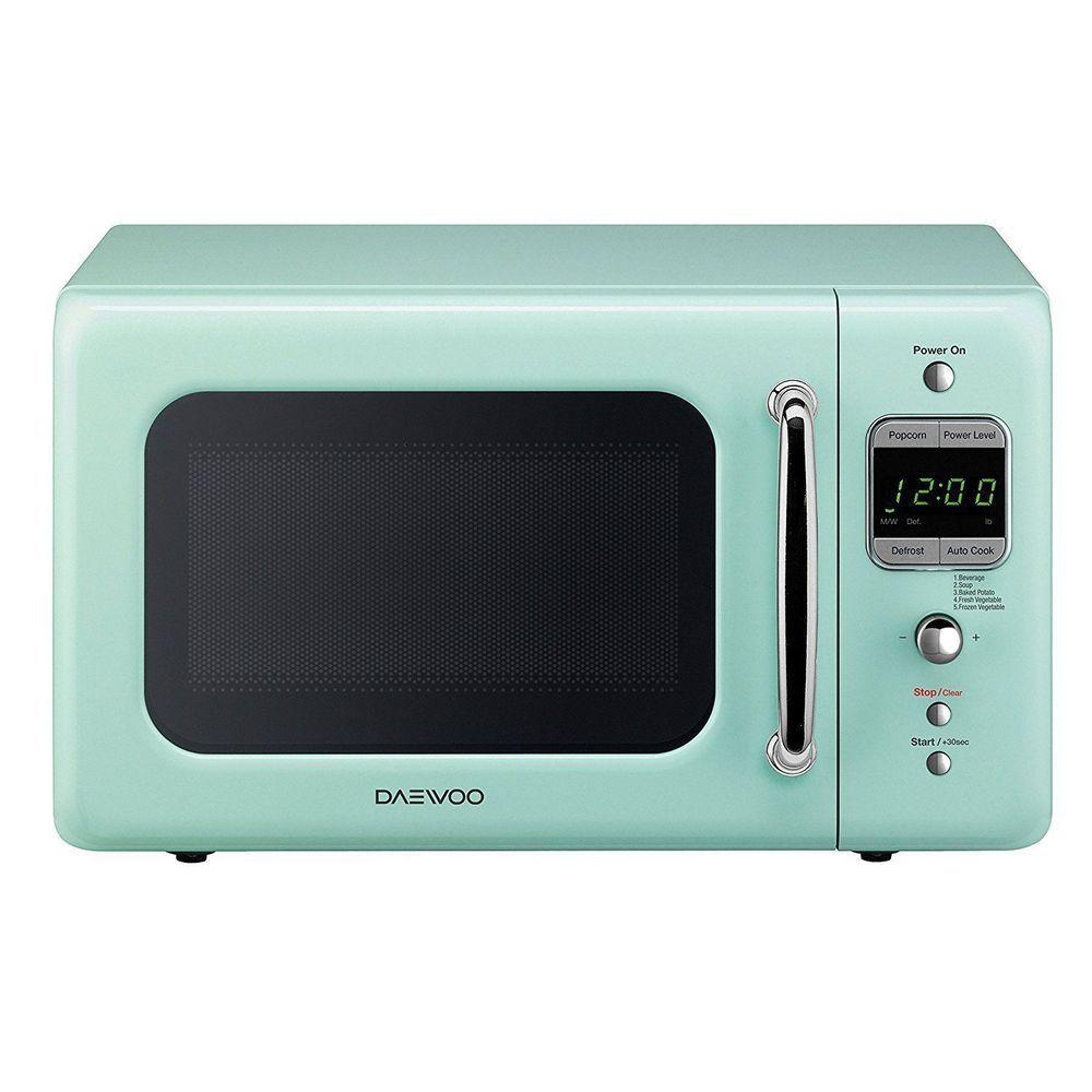 Retro Mint Green Microwave Daewoo Oven Vintage Kitchen Appliances ...