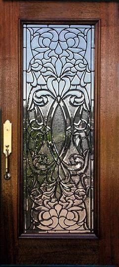 Leaded Gl Door In 2019 Exterior Doors With
