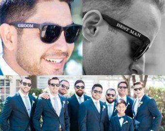 Printed Groomsmen Sunglasses Groom Best Man Groomsman