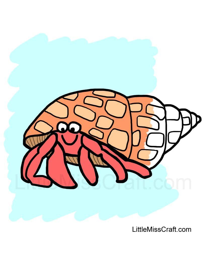 Hermit Crab Coloring Page
