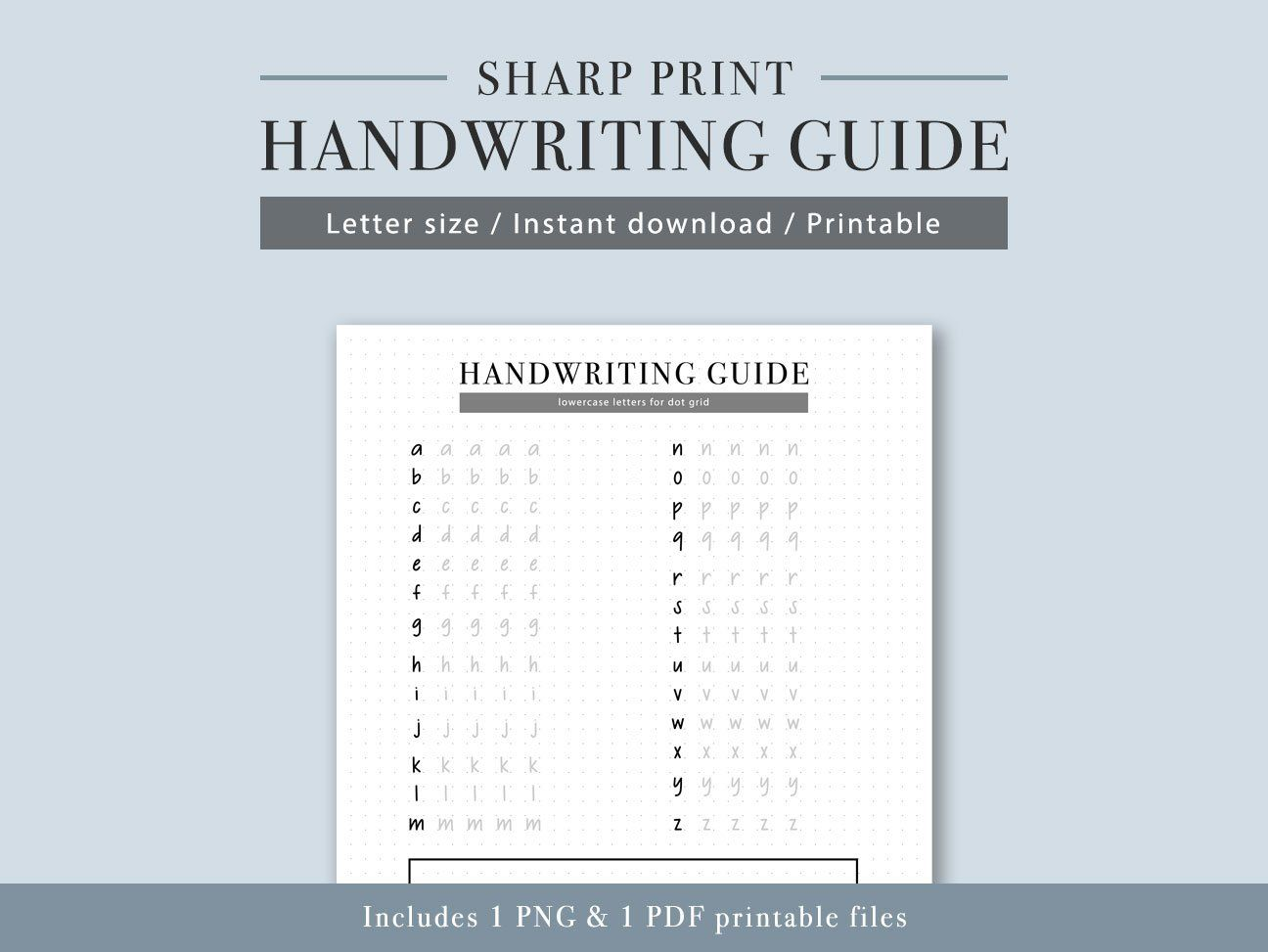 Digital Product Sharp Print Handwriting Practice Guide