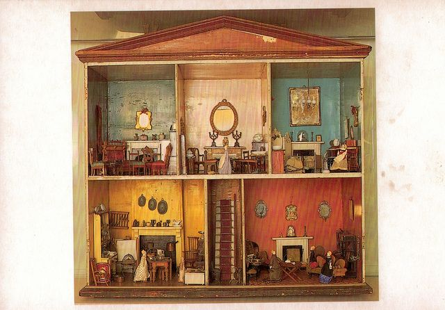 A Victorian Dolls House c.1880 in The Gunnersbury Museum by Maxwell Hamilton