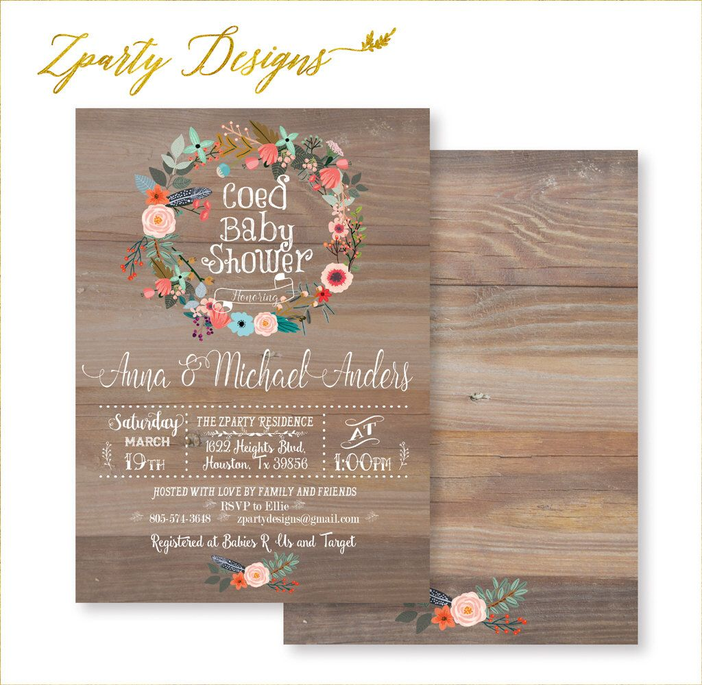 Co-ed Baby Shower, Coed Shower Invitation, Coed Baby Shower Invite ...