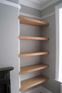 foto de fireplace recess shelving Google Search Living room shelves Shelves Interior