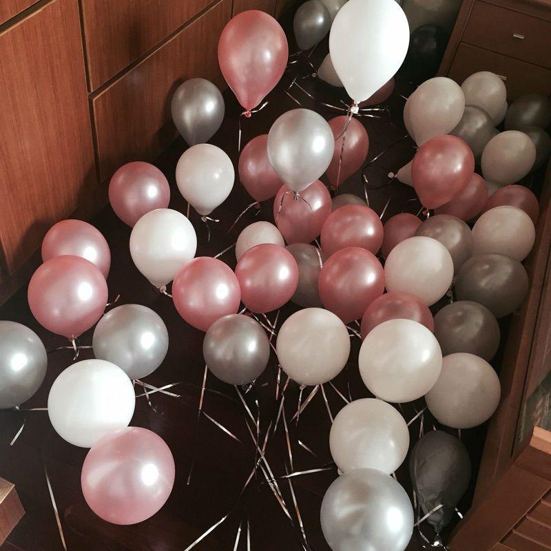Verdicken 50 teilelos Perle Ballon Hochzeit Geburtstag