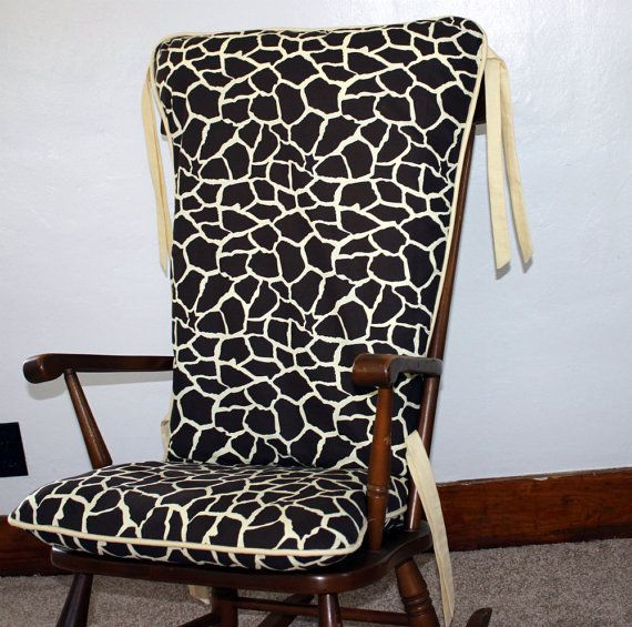 custom giraffe print rocking chair cushions by mayberryandmain ...