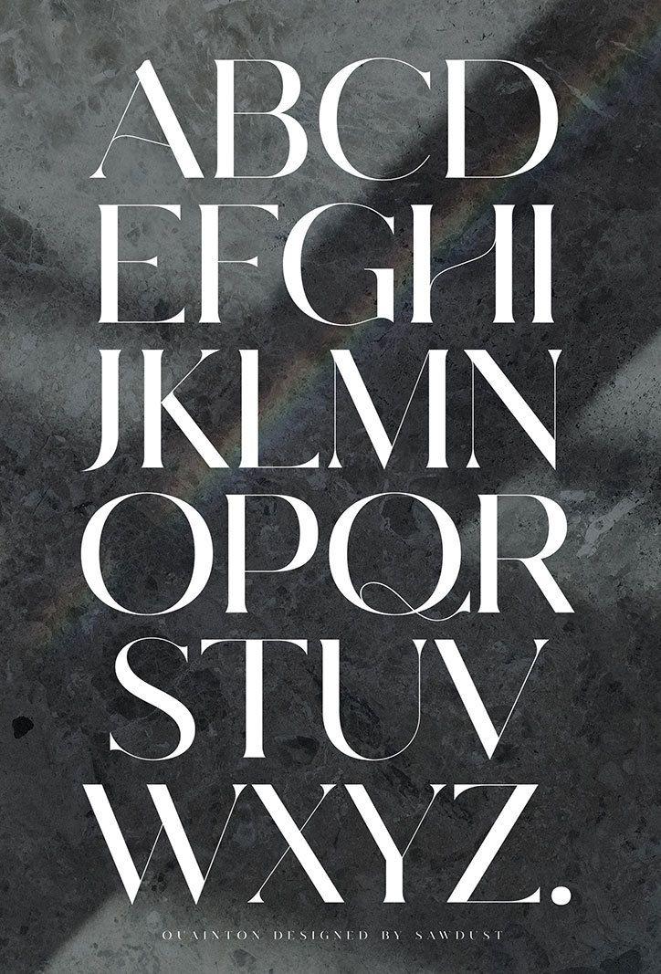 Quainton font by Sawdust | Design | Typography alphabet, Typography