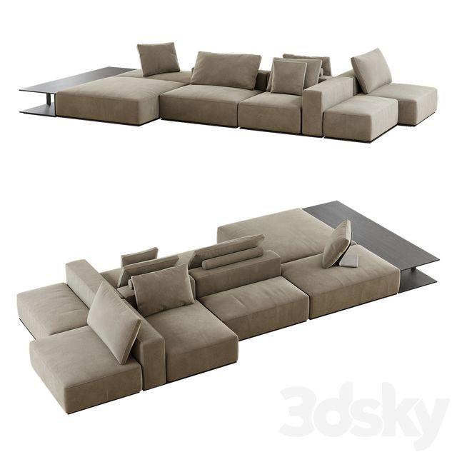 3d models Sofa Westside Divano Poliform in 2020