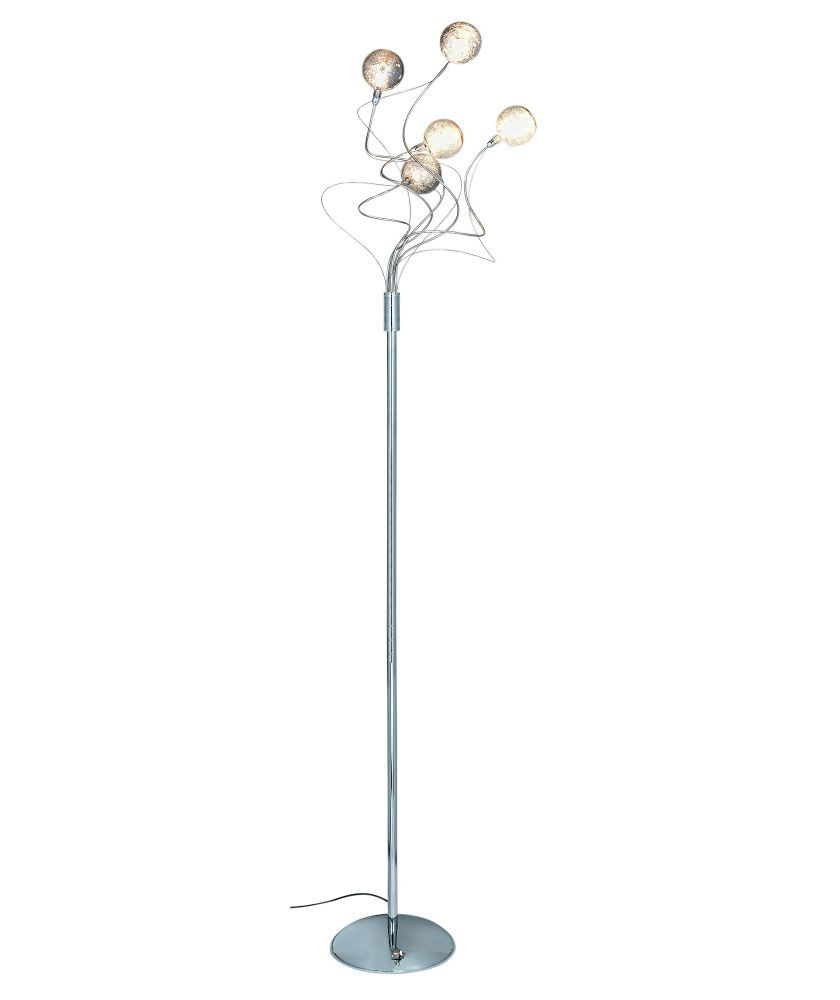 Buy Heart of House Ariano Crackle 5 Light Floor Lamp - Chrome at ...