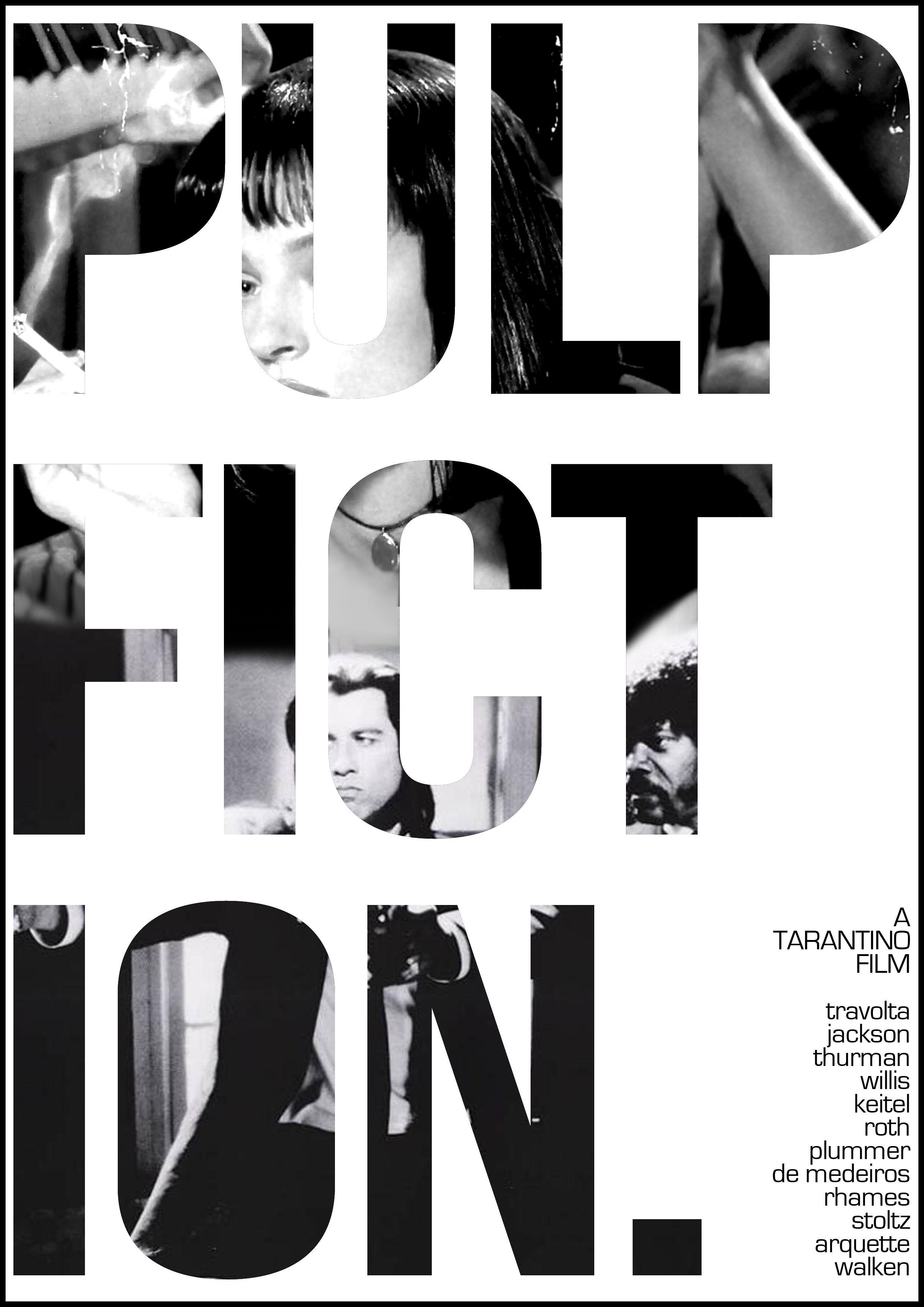 Poster design monochrome - Pulp Fiction Poster