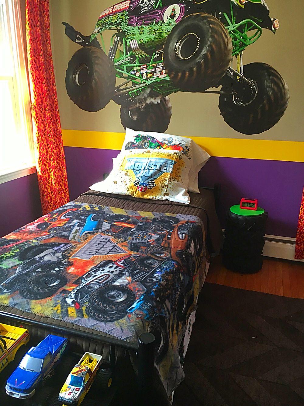 Quentin's Monster Jam room Hot wheels bedroom, Toddler