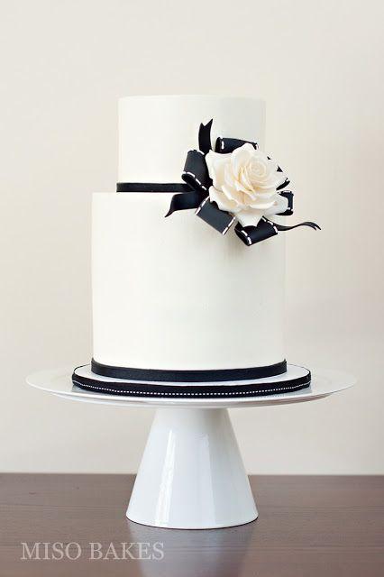 Miso Bakes White Wedding Cakes Cool Wedding Cakes Black And White Wedding Cake